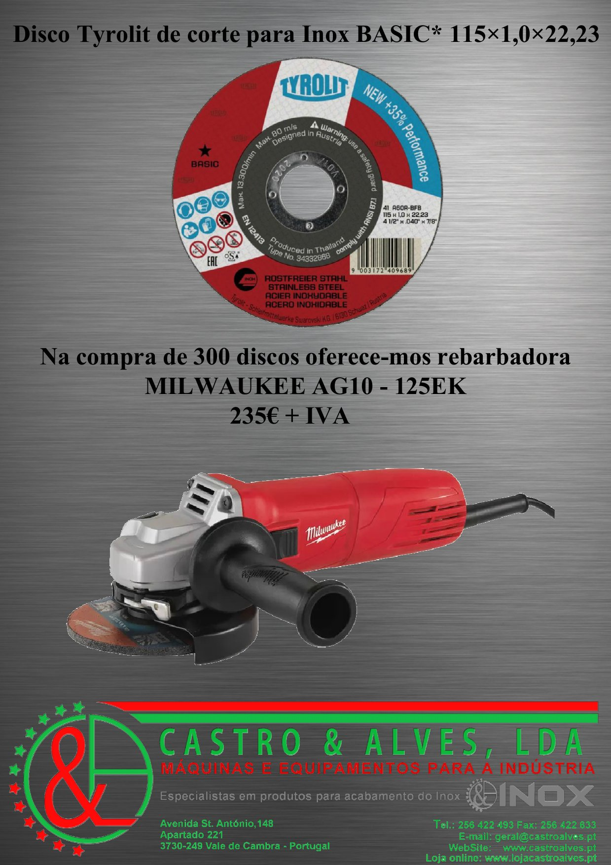 Tyrolit discos 115 inox